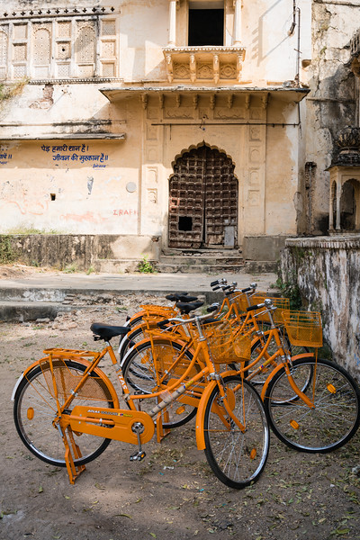 Outside the old palace Shahpura.