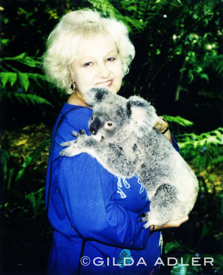 Eva and koala photoshopped
