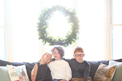 Portrait of Donovan, Abel and Maryanna for 2020 Christmas card