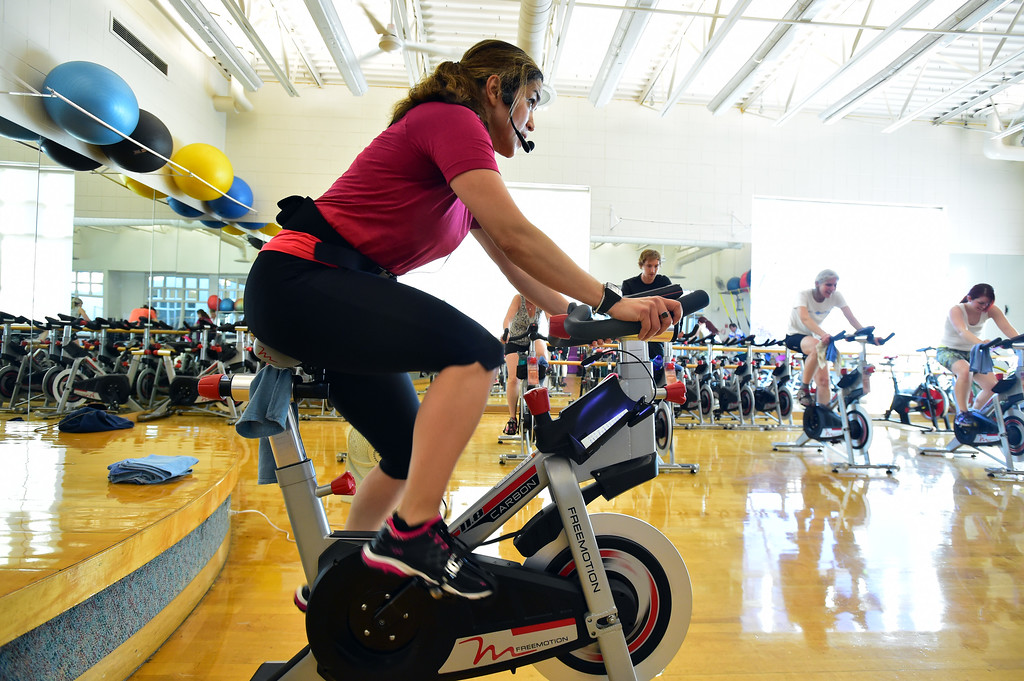 . The Ride!  at the East Boulder Community Center on Thursday. For more photos go to www.dailycamera.com Paul Aiken Staff Photographer April 6, 2017
