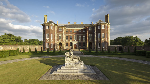 The north front of Ham House, Richmond-upon-Thames, Surrey.