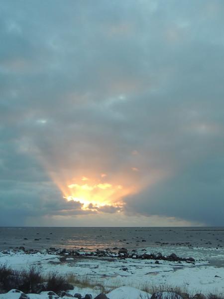 SUNRISE OVER THE HUDSON BAY