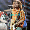 ATLANTIC CITY - AUGUST 21: Gutarist, John Frusciante of Red Hot Chilli Peppers performs in The Event Center at The Borgata Hotel, Casino and Spa, August 21, 2005 in Atlantic City, New Jersey.