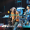 ATLANTIC CITY - AUGUST 21: Gutarist, John Frusciante  (L) and Drummer Chad Smith of Red Hot Chilli Peppers performs in The Event Center at The Borgata Hotel, Casino and Spa, August 21, 2005 in Atlantic City, New Jersey.