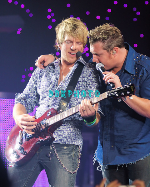 ATLANTIC CITY -AUGUST 23, 2007  Rascal Flatts performs in concert in Boardwalk Hall on August 23, 2007 in Atlantic City, New Jersey.