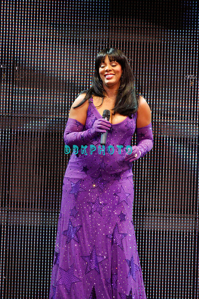 """ATLANTIC CITY, NJ - JULY 25:  Donna Summer performs in concert before a """"SRO' crowd at Caesars Atlantic City on July 25, 2008 in Atlantic City, New Jersey."""