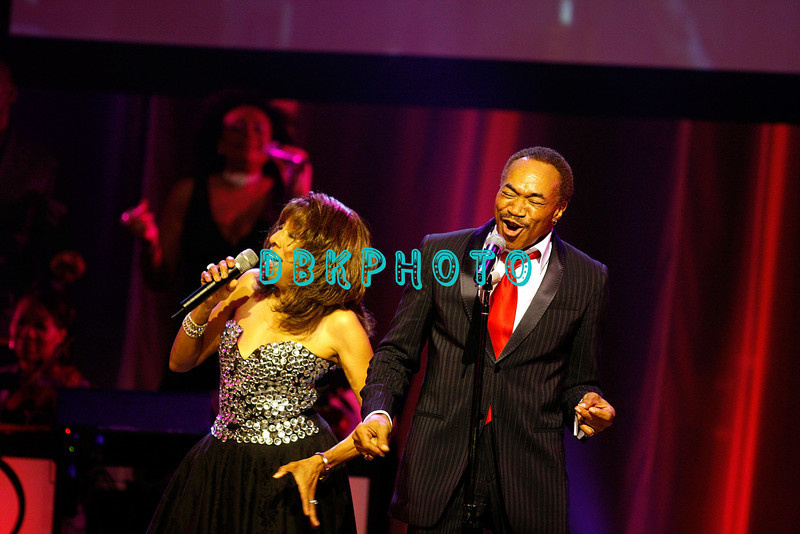 "ATLANTIC CITY - JUNE 07:  Jean Carne (L) and GC Cameron of the Spinners performs at the ""Love Train: The Sound Of Philadelphia"" concert on June 7, 2008 at the Borgata Hotel & Casino in Atlantic City, New Jersey."