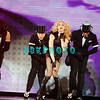 "ATLANTIC CITY, NJ - NOVEMBER 22:  Madonna and back-up dancers performs during her ""Sticky & Sweet"" tour at Boardwalk Hall on November 22, 2008 in Atlantic City, New Jersey. ="
