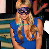 ATLANTIC CITY, NJ - FEBRUARY 25:  Playboy covergirl Aubrey O'Day puts on a mask during her visit to the Pool at Harrahs on February 25, 2009 in Atlantic City, New Jersey.