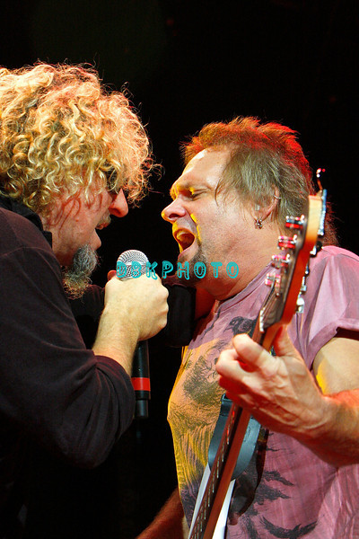 ATLANTIC CITY, NJ - AUGUST 22:  Sammy Hagar, Lead singer and guitarist (L) and Bassist Michael Anthony of the band Chickenfoot performs at the House of Blues on August 22, 2009 in Atlantic City, New Jersey.