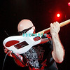 ATLANTIC CITY, NJ - AUGUST 22:  Guitarist, Joe Satriani of the band Chickenfoot kisses his guitar as he performs at the House of Blues on August 22, 2009 in Atlantic City, New Jersey.