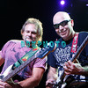 ATLANTIC CITY, NJ - AUGUST 22:  Bassist Michael Anthony (L) and Guitarist Joe Satriani of the band Chickenfoot performs at the House of Blues on August 22, 2009 in Atlantic City, New Jersey.=