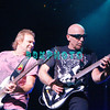 ATLANTIC CITY, NJ - AUGUST 22:  Bassist Michael Anthony (L) and Guitarist Joe Satriani of the band Chickenfoot performs at the House of Blues on August 22, 2009 in Atlantic City, New Jersey.