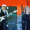 ATLANTIC CITY, NJ - JUNE 13:  John McVie (L) and Stevei Nicks of Fleetwood Mac performs at Boardwalk Hall Arena on June 13, 2009 in Atlantic City, New Jersey.  <br />  John McVie (L) and Stevie Nicks