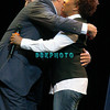 ATLANTIC CITY, NJ - MAY 30:  Jay Leno hugs Wanda Sykes on stage as he performs at the Borgata Hotel Casino & Spa on May 30, 2009 in Atlantic City, New Jersey.