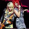 ATLANTIC CITY, NJ - JUNE 26:  Orianthi and Allison Iraheta, opening acts for Adam Lambert