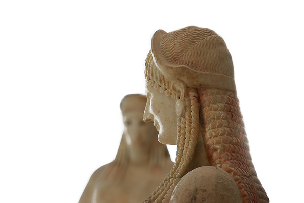 Statues at the New Acropolis Museum, Athens, Greece