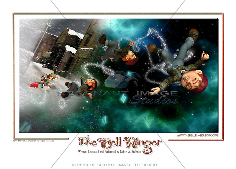 "HURLED THROUGH TIME<br /> A scene from Robert A. Brubaker's award-winning picture book, The Bell Ringer.  <a href=""http://www.thebellringerbook.com"">http://www.thebellringerbook.com</a><br /> ©2010-2012 Robert A. Brubaker - Resonant Image Studios - All Rights Reserved<br /> <br /> NOTE: WATERMARK WILL BE REMOVED FROM ALL PURCHASED ITEMS."