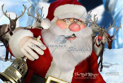 A MEETING WITH SANTA 20x30 A scene from Robert A. Brubaker's award-winning picture book, The Bell Ringer. www.thebellringerbook.com ©2010-2012 Robert A. Brubaker - Resonant Image Studios - All Rights Reserved  NOTE: WATERMARK WILL BE REMOVED FROM ALL PURCHASED ITEMS.