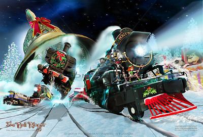 """A JOYFUL RING 20""""x30"""" A scene from Robert A. Brubaker's award-winning picture book, The Bell Ringer. www.thebellringerbook.com ©2010-2012 Robert A. Brubaker - Resonant Image Studios - All Rights Reserved  NOTE: WATERMARK WILL BE REMOVED FROM ALL PURCHASED ITEMS."""