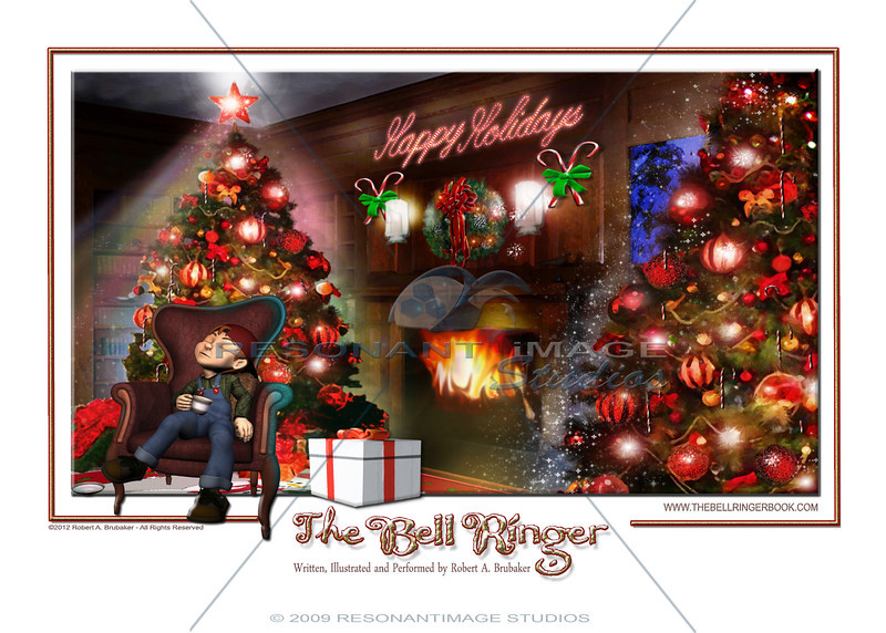 """A CHRISTMAS DREAM<br /> A scene from Robert A. Brubaker's award-winning picture book, The Bell Ringer.  <a href=""""http://www.thebellringerbook.com"""">http://www.thebellringerbook.com</a><br /> ©2010-2012 Robert A. Brubaker - Resonant Image Studios - All Rights Reserved<br /> <br /> NOTE: WATERMARK WILL BE REMOVED FROM ALL PURCHASED ITEMS."""