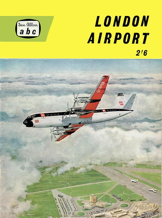 1960 London Airport, by M F Allward & R McLeavy, 3rd edition, published February 1960, 36pp 2/6, code: 1000/291/250/260. Larger format.