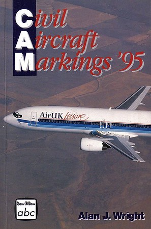 1995 Civil Aircraft Markings, 46th edition, by Alan J Wright, published March 1995, 336pp £5.99, ISBN 0-7110-2340-9, no code.