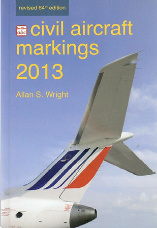 2013 Civil Aircraft Markings, by Allan S Wright, 64th edition, published March 2013, 448pp £13.00, ISBN 0-7110-3762-0, no code.