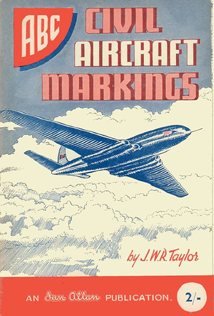 1950 Civil Aircraft Markings, 1st edition, by J W R Taylor, published June 1950, 72 pp 2/-, no code. Reissued with original cover in 2000, costing £4.99.