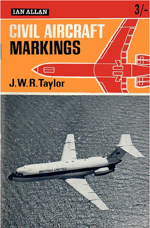 1965 Civil Aircraft Markings, 15th edition, by J W R Taylor, published December 1964, 104pp 3/-, no code.
