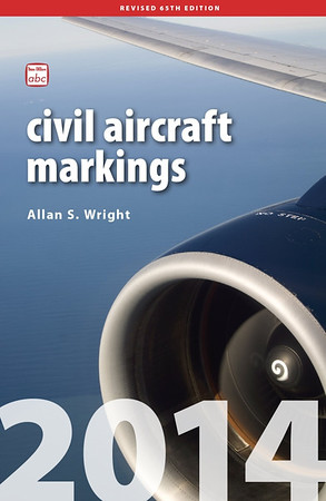 2014 Civil Aircraft Markings, by Allan S Wright, 65th edition, published March 6th 2014, 448pp £13.50, ISBN 0-7110-3797-3.