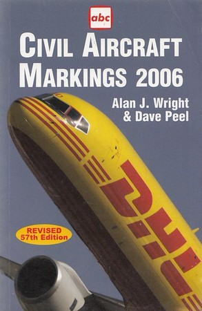 2006 Civil Aircraft Markings, by Alan J Wright & Dave Peel, 57th edition, published March 2006, 416pp £9.99, ISBN 1-85789-226-8, code 0603/G.