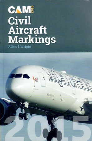2015 Civil Aircraft Markings, by Allan S Wright, 66th edition, published April 1st 2015, 448pp £11.95, ISBN 1-85780-368-X.
