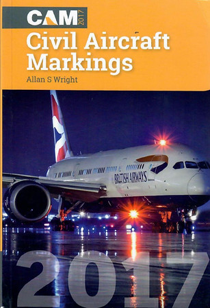 2017 Civil Aircraft Markings, by Allan S Wright, 68th edition, published April 2017,  448pp £11.95, ISBN 1-86780-376-0.