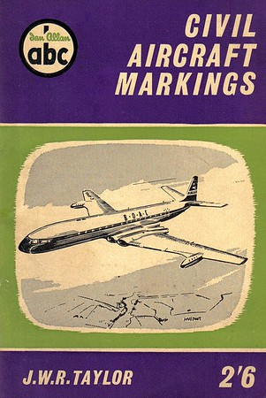 1959 Civil Aircraft Markings, 9th edition, by J W R Taylor, published February 1959, 96pp 2/6, code: 883/520/3000/259.