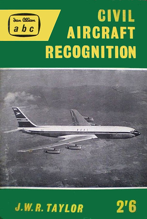 1960 Civil Aircraft Recognition, by J W R Taylor, 2nd edition, published June 1960, 62pp 2/6, code: 622/1018/20/660. A standard A5 format size of 7.25 inches x 4 7/8 inches remained MOSTLY the norm from 1959.
