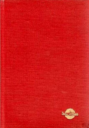 Summer 1953 Combined Volume minus dust jacket; red example. ABC OF BRITISH LOCOMOTIVES in gold along length of spine, with IAN ALLAN in smaller letters. Gold Ian Allan logo on front cover.