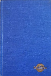 1950 Combined Volume minus dust jacket; this is a light blue example. ABC OF BRITISH LOCOMOTIVES in gold along length of spine, with IAN ALLAN in smaller letters. Gold Ian Allan logo on front cover.
