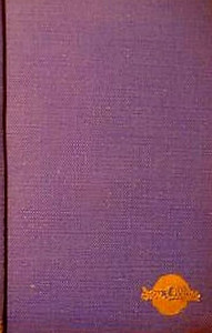 1950 Combined Volume minus dust jacket; this is a purple/wine example. ABC OF BRITISH LOCOMOTIVES in gold along length of spine, with IAN ALLAN in smaller letters. Gold Ian Allan logo on front cover.
