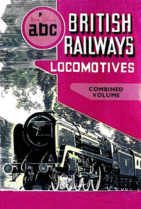 "Summer 1951 British Railways Locomotives, Combined Volume. Published March 1951, 250pp 9/6, no code. The design on the dust sheet, with a drawing by A N Wolstenholme of BR Standard Class 7mt (original classification, later 7P6F) 70000 ""Britannia"", was the image used on the individual regional books, except the colours would match each region, this was the first of the 'standardised' covers. As previously mentioned, each Combined Volume until Summer 1957 consisted of the separate editions, with their original page numberings; as from this edition, BR Standard classes were included after the WR, LM & ER sections, and a shedcode list appeared at the beginning of all four regional sections. The Southern Region & Diesels/Electrics part used the exact same photographs as used in the 1950 CV. Reissued in 2002 with a different laminated cover (see Section 012)."