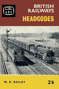1961 British Railways Headcodes, 1st edition, by M R Bailey, published June 1961, 72pp 2/6, code: 1103/696/100/661. Cover has photo of 31873 & DEMU 1036. Reissued in 1999 (see Section 012).