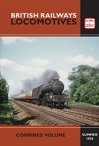Summer 1958 British Railways Locomotives, Combined Volume (2013 reissue), published August 2013, 240pp £12.99, ISBN 0-7110-3769-4, no code. Cover photo of LNER V2 2-6-2 60947. My particular copy has a non-laminated cover; others are laminated. Note: on the unnumbered page 55, the bottom photo of 75029 is missing its caption. It is captioned in the original.