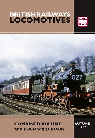"Summer 1957 British Railways Locomotives, Combined Volume + Locoshed (2016 reissue) published February 2016, 360pp £13.50, ISBN 0-7110-3845-7, no code. Interestingly, although ALL images of this cover I've found online are marked Autumn 1957 (no doubt to fit in with the Autumn 1957 Locoshed which is included), the actual published book shows 'Summer 1957'. Laminated cover (see previous photo), with photo of ex-GWR 'City' Class 4-4-0 3440 ""City of Truro"" at Ruabon."