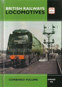 "Spring 1955 (Winter 1954) Combined Volume (2014 reissue), published June 2014, 280pp £13.00, ISBN 0-7110-3799-1, no code. Cover photo of unrebuilt Bulleid 'Battle of Britain' Class Pacific 34064 ""Fighter Command"" at the head of 'The Bournemouth Belle'. This first batch of this reissue had a misprint on the front cover: 'Spring 955'."