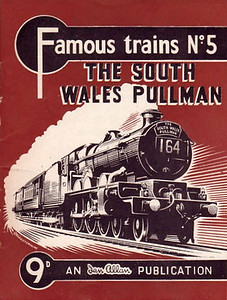 Famous Trains No.5 The South Wales Pullman, published May 1959, 28pp 9d, code: 930/287/10/559. A N Wolstenholme drawing of a GWR 'Castle' Class 4-6-0 on cover. The exact same code was used for the 9d edition of Famous Trains No.3.