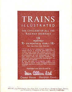 Famous Trains No.5, 6d, rear cover.