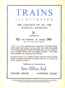 Famous Trains No.1, 9d, rear cover variant #1 with no code.