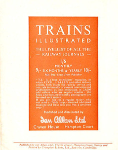 Famous Trains No.3, 6d, rear cover.