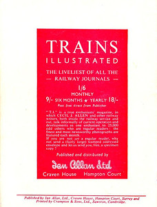 Famous Trains No.2, 6d, rear cover.