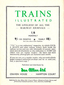 Famous Trains No.4, 6d, rear cover.